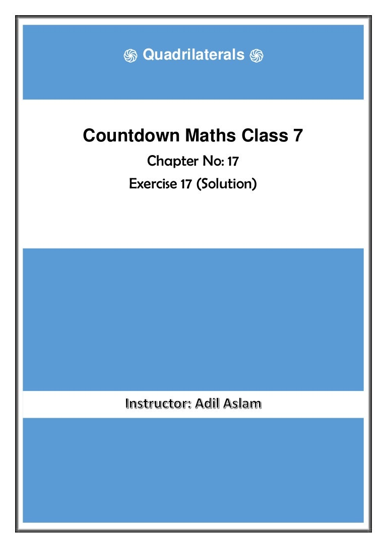 Countdown Class 7th Mathematics Chapter 17 Solution