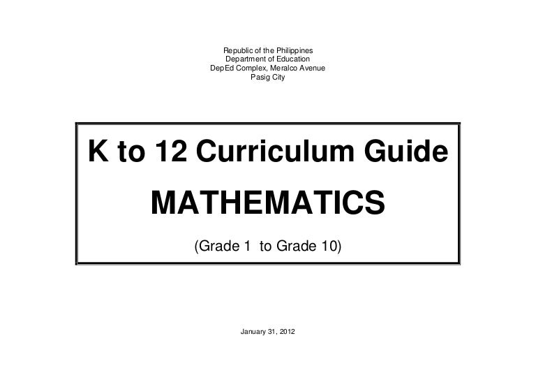 K to 12 mathematics curriculum guide for grades 1 to 10 fandeluxe Choice Image