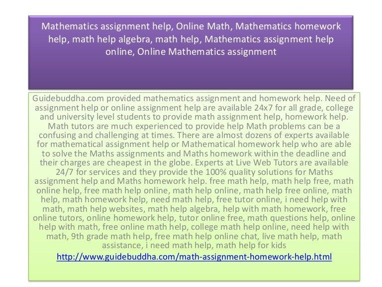 Mathematics assignment help, Online Math, Mathematics