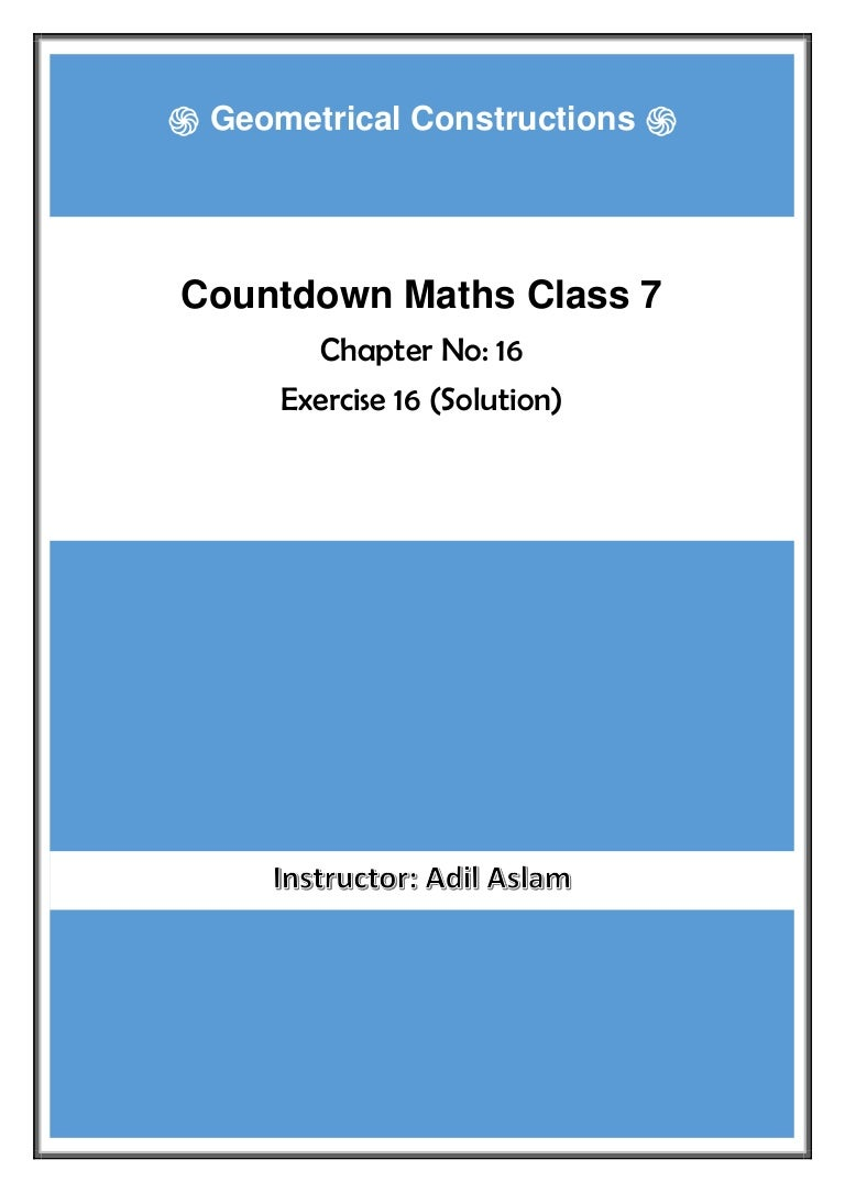 Countdown Class 7th Mathematics Chapter 16 Solution