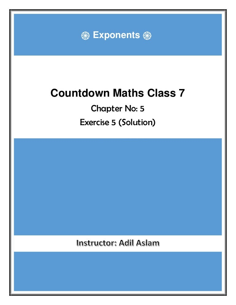 Countdown Class 7th Mathematics Chapter 5 Solution