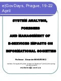 System Analysis, Foresees and Management of E-Services Impacts on Informational Societies