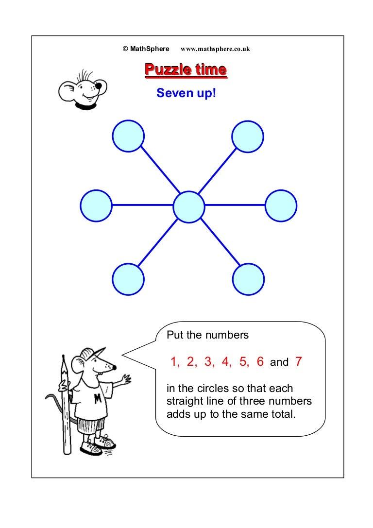 Maths puzzle-03-seven-up