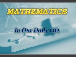 what is the importance of mathematics in our daily life