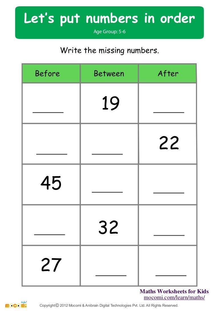 let u0027s put number in order u2013 maths worksheets for kids u2013 mocomi com