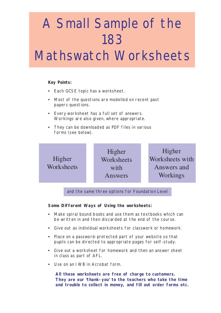 Workbooks worksheets answers : mathswatchworksheetssample-130227182505-phpapp01-thumbnail-4.jpg?cb=1361989540