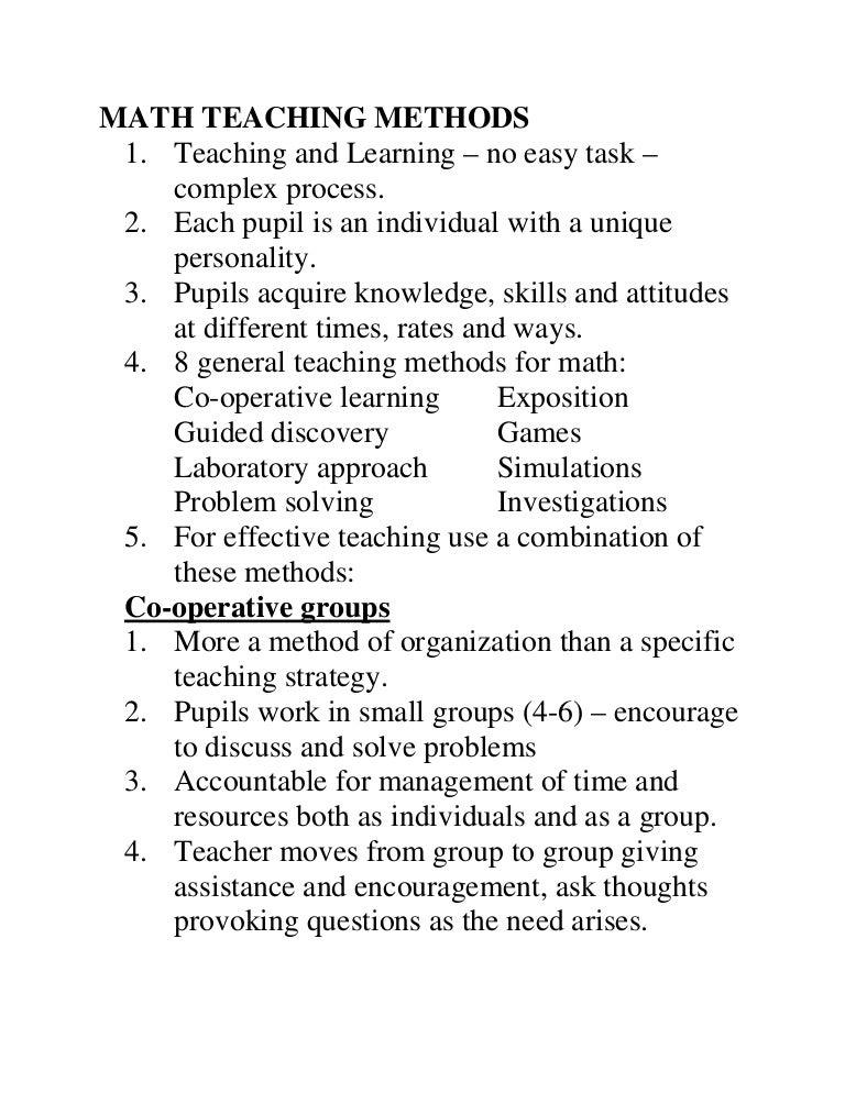 Maths,teaching,methods