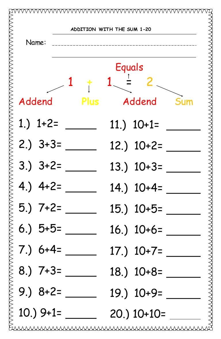Math worksheet2