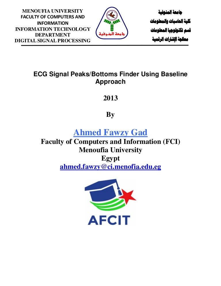 MATLAB Code + Description : ECG Signal Peaks/Bottoms Finder