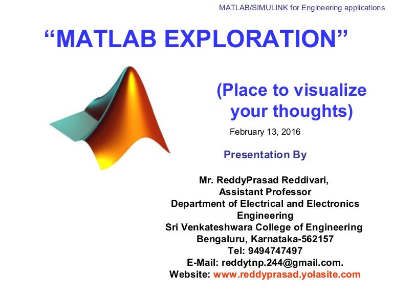 MATLAB/SIMULINK for engineering applications: day 3