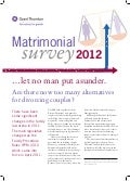 Matrimonial Survey 2012 - Are there now too many alternatives for divorcing couples?