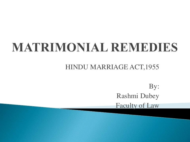 hindu marriage act 1955 latest amendment