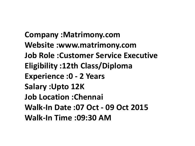 job profile of customer service executive