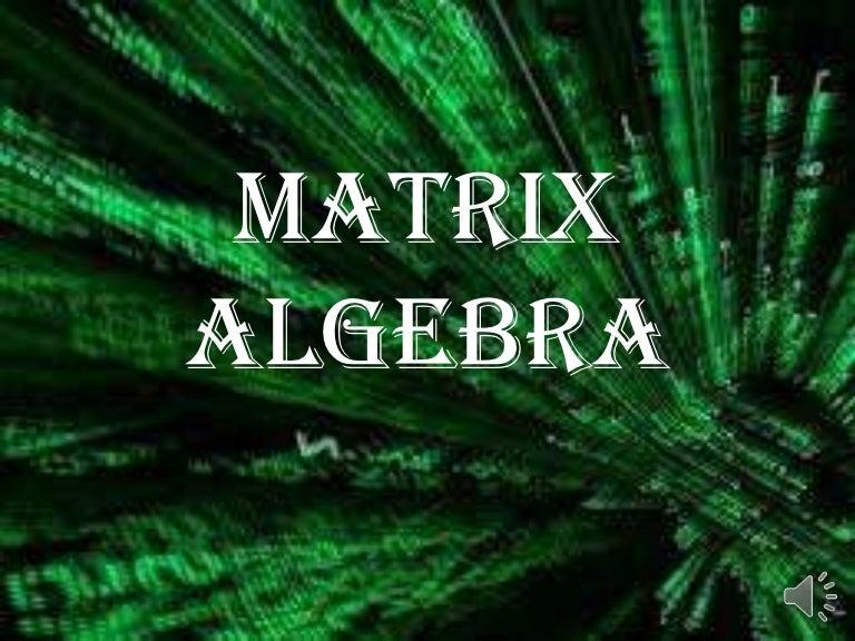 Matrix algebra determining errors