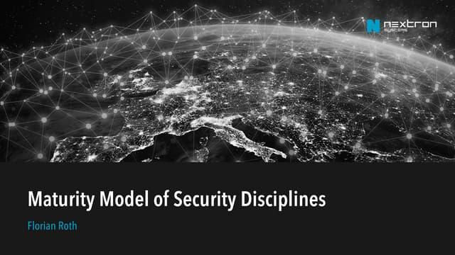 Maturity Model of Security Disciplines