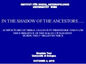 2010 - Maurizio Tosi -  In the Shadow of the Ancestors...