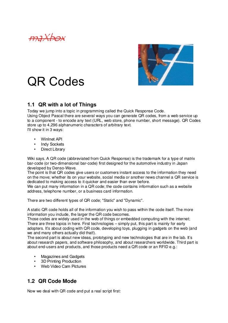 QR Code Generator Tutor