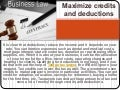 Maximize credits and deductions