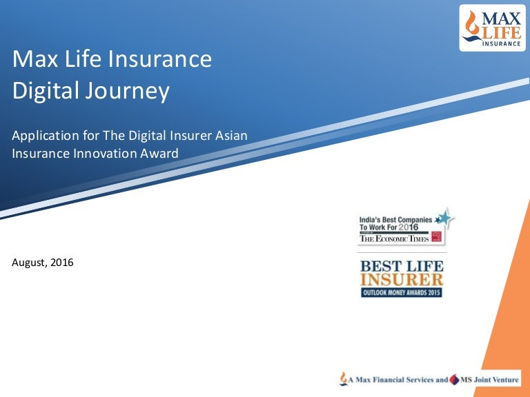 Max Life Insurance Innovation Award Presentation