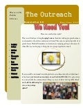 May 2016: Outreach Newsletter