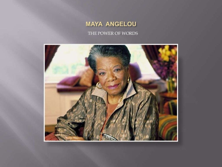 Essay on maya angelou