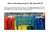 Xưởng may áo mưa quảng cáo giá rẻ, bền, đẹp