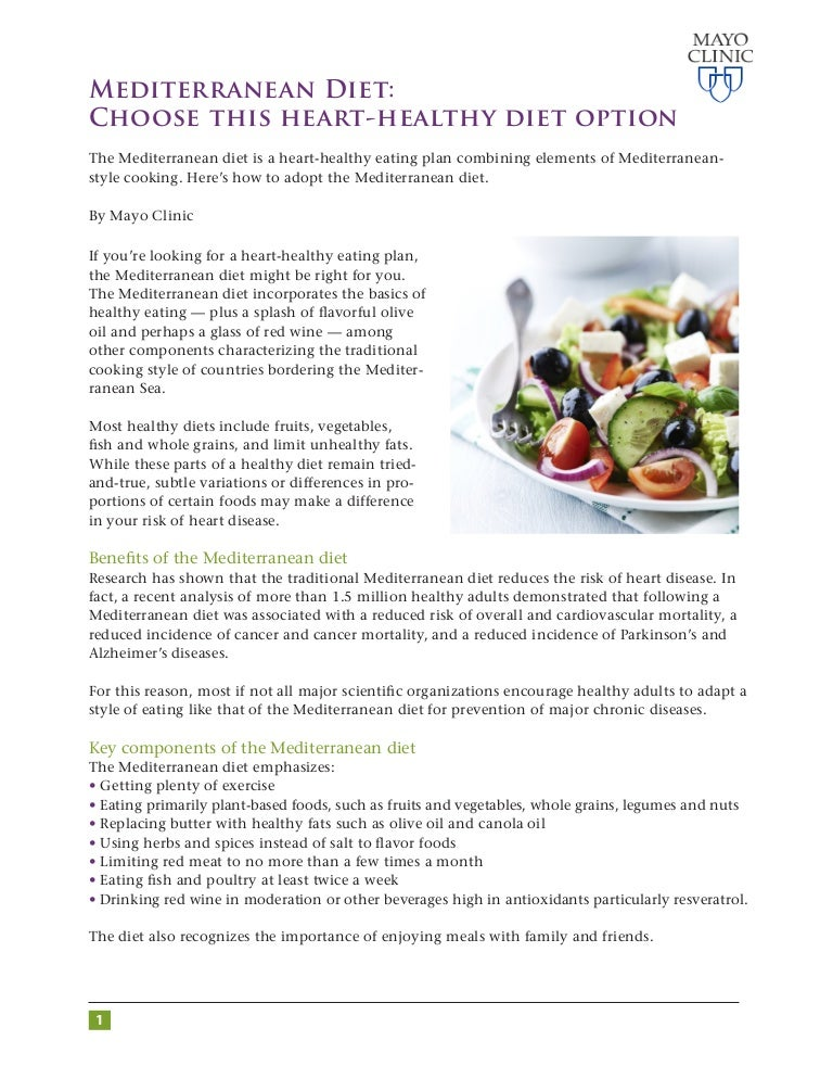 mayo clinic best anti-inflammatory diet