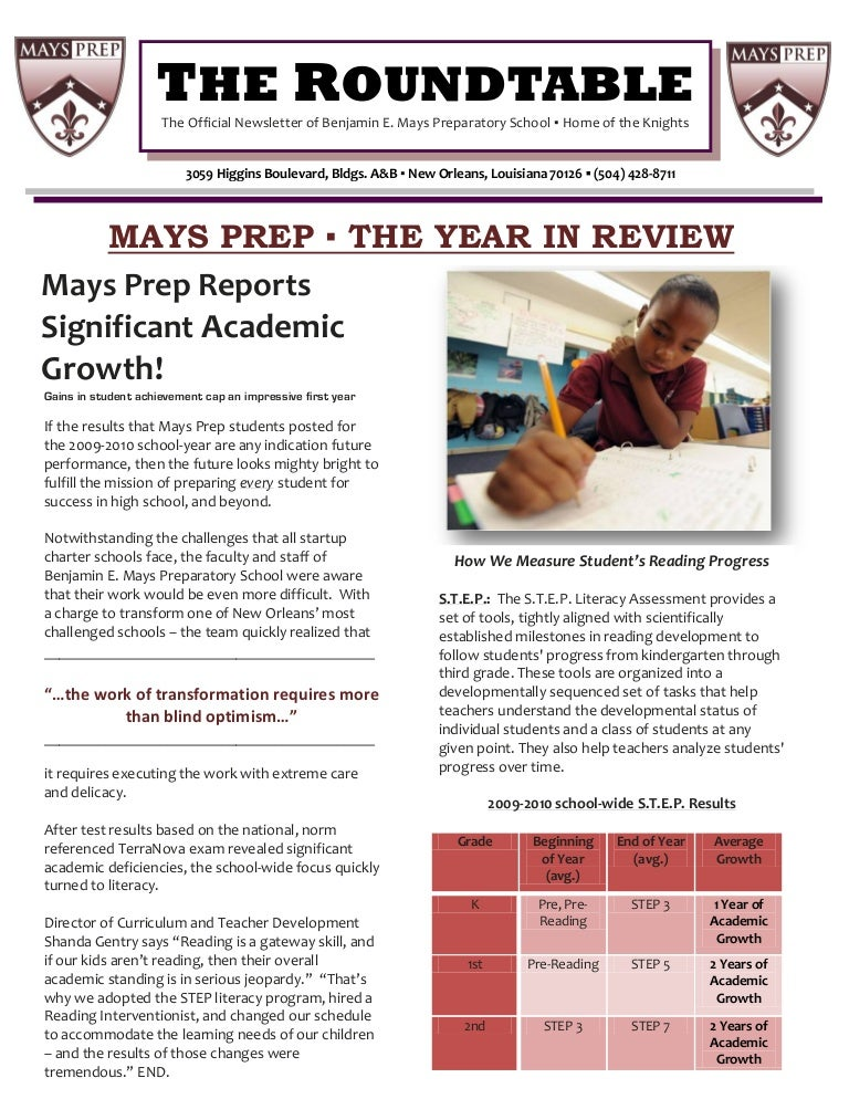 Roundtable On Redesigned Sat Test At >> Mays Prep The Roundtable Issue V The Year In Review