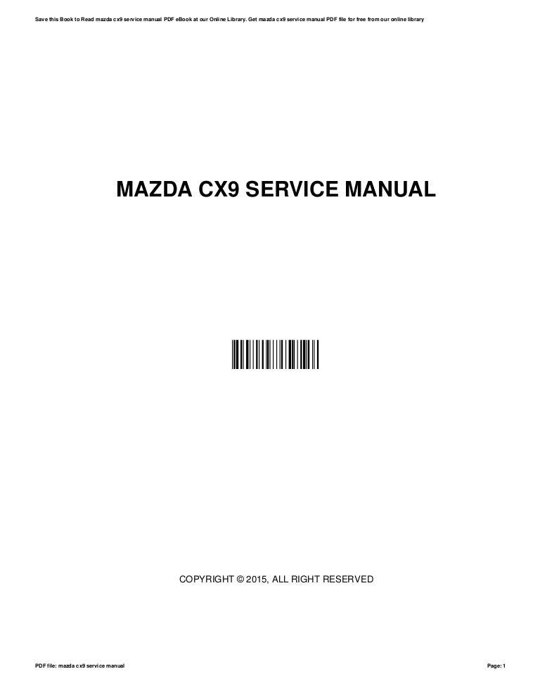 mazda cx9 service manual rh slideshare net 5 Speed Manual Mazda 5 5 Speed Manual Mazda 5