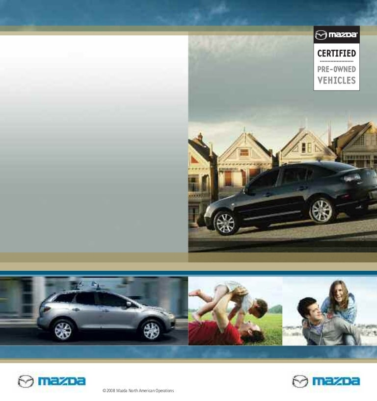 Mazda Certified Pre Owned >> Mazda Certified Pre Owned Used Cars Cpo Brochure From