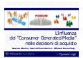 L'influenza dei Consumer Generated Media