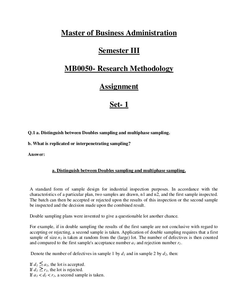 Mb0050 research methodology answer fandeluxe Image collections