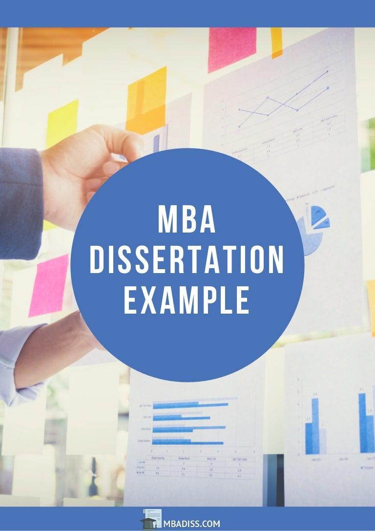 MBA Dissertation PDF Examples University - Sample Dissertations