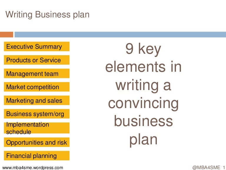 MbaSme Writing Business Plan