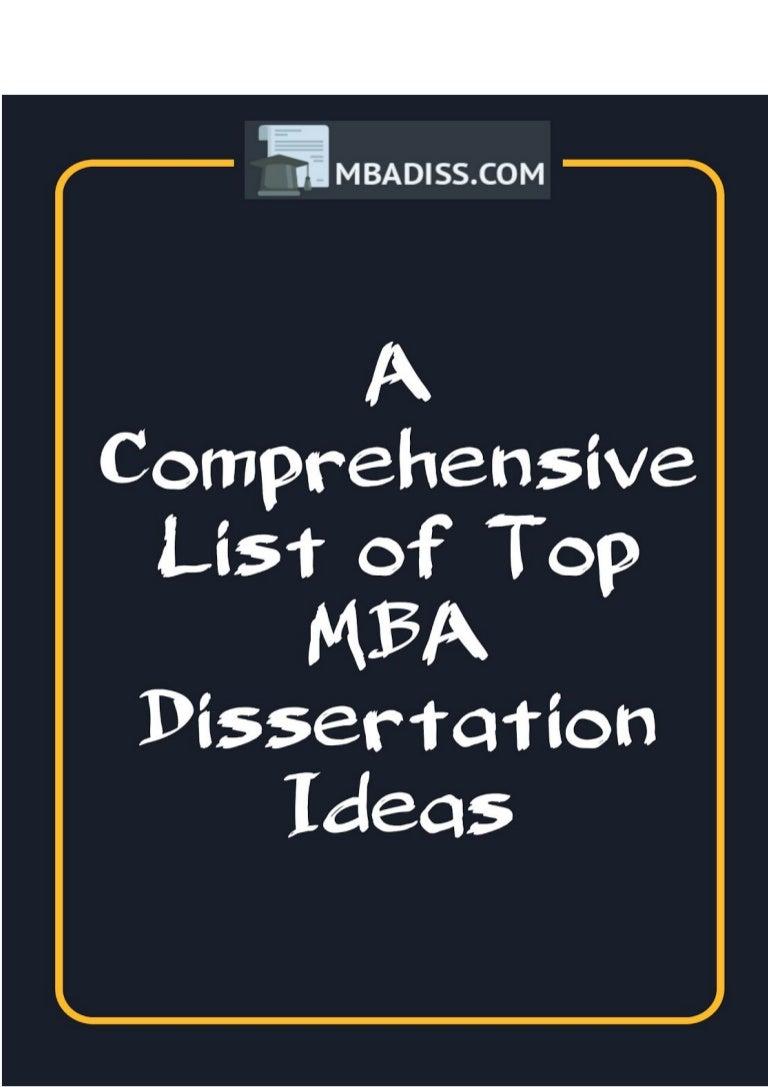 Buy dissertation mba
