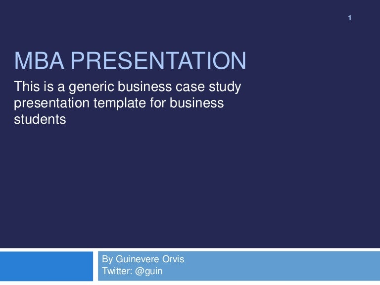 mba case study presentation template