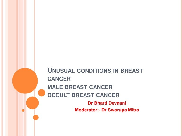 Male breast cancer and occult primary