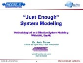 """Just Enough"" System Modeling"