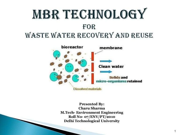 Membrane Bioreactor Technology An Overview