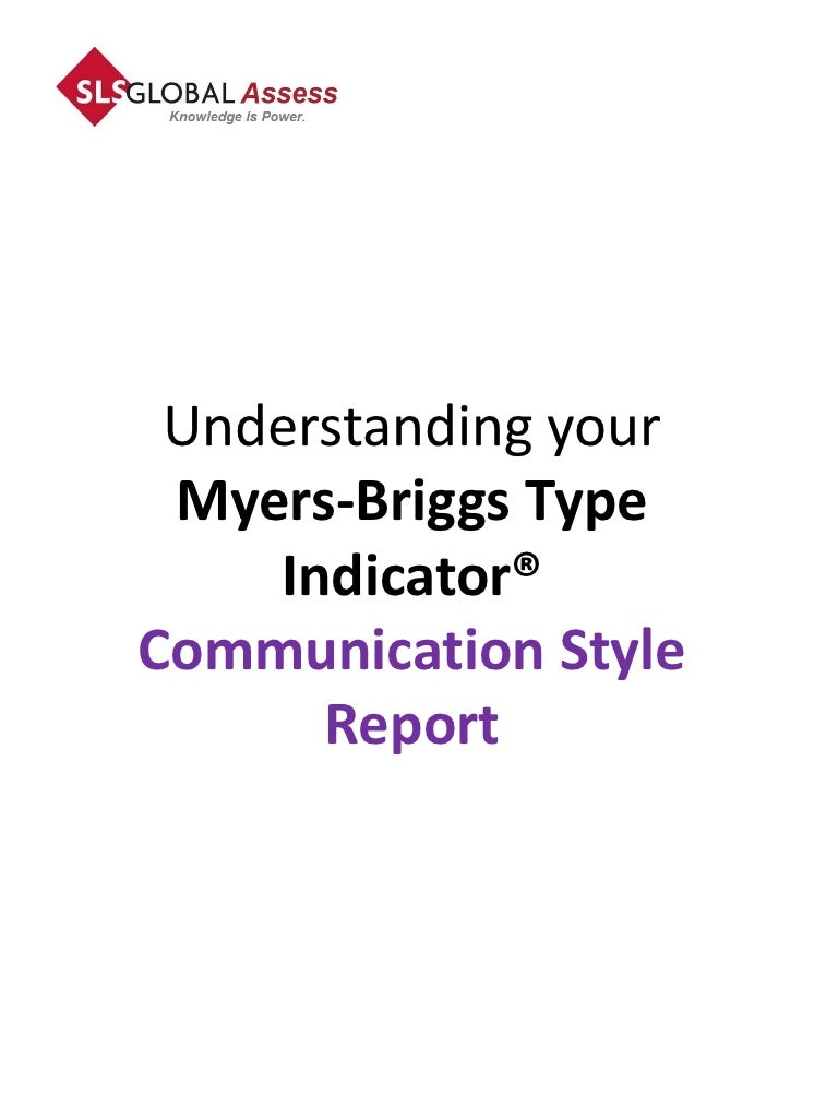 mbti communication style report