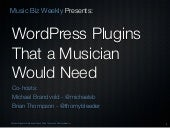 WordPress Plugins that a Musician Would Need.