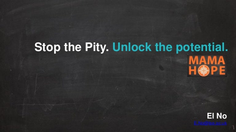 Stop the pity