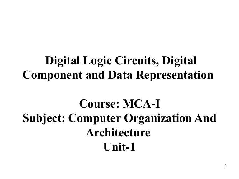 digital logic circuits, digital component memory unit