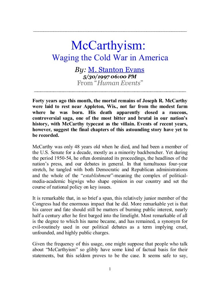 Thesis statement mccarthyism resume for quality engineer position