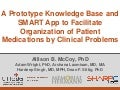 A Prototype Knowledge Base and SMART App to Facilitate Organization of Patient Medications by Clinical Problems