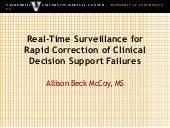 Real-Time Surveillance for Rapid Correction of Clinical Decision Support Failures