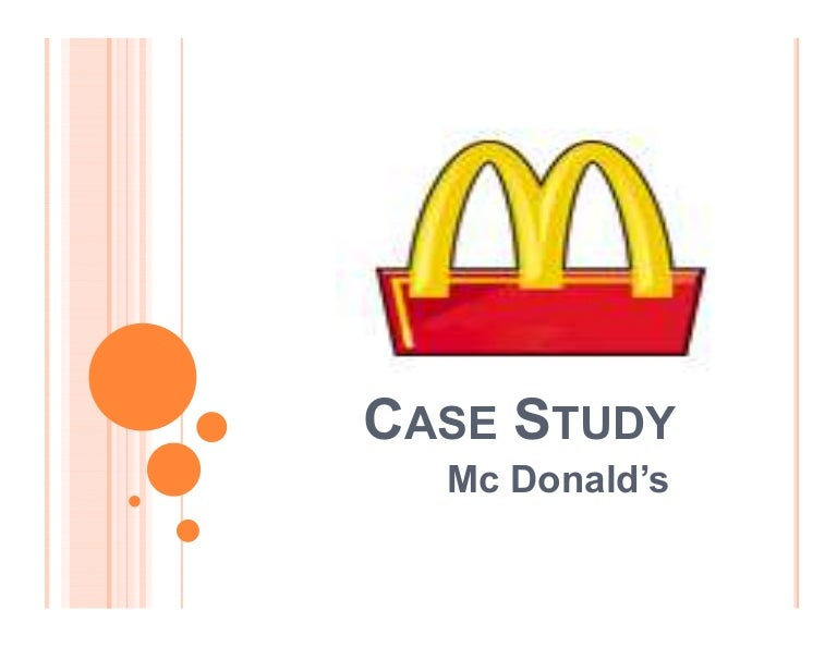 Mcdonald CaseStudy  Analysis
