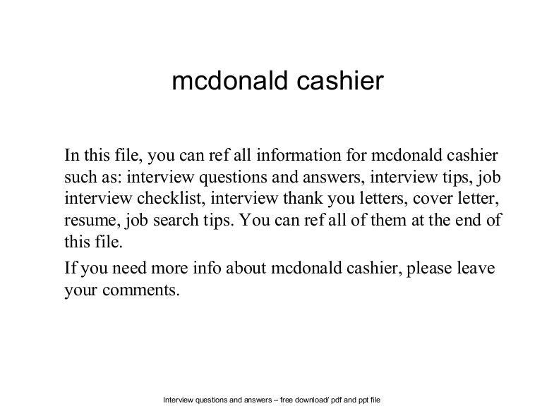 Cashier Job Description Resume resume for a cashiercashier resume template cashier job description resume restaurant Mcdonalds Cashier Job Description
