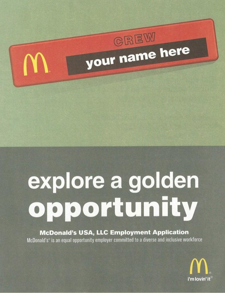 photo relating to Mcdonalds Printable Job Application referred to as Mc donalds activity-software program