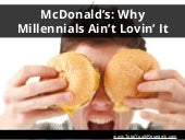 TotalYouthResearch.com: McDonald's - Why Millennials Ain't Lovin' It (TotalYouthResearch)